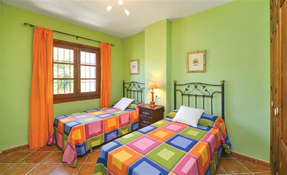 Twin bedroom at Villa Conchi, Frigiliana, Andalucia
