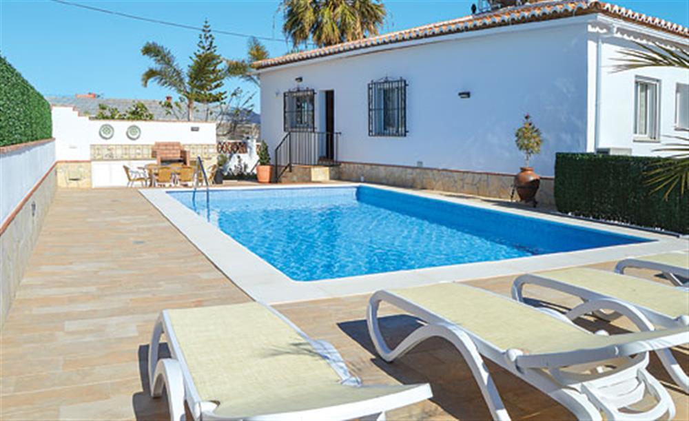 Swimming pool at Villa Cortijo el Olivar, Torrox, Andalucia