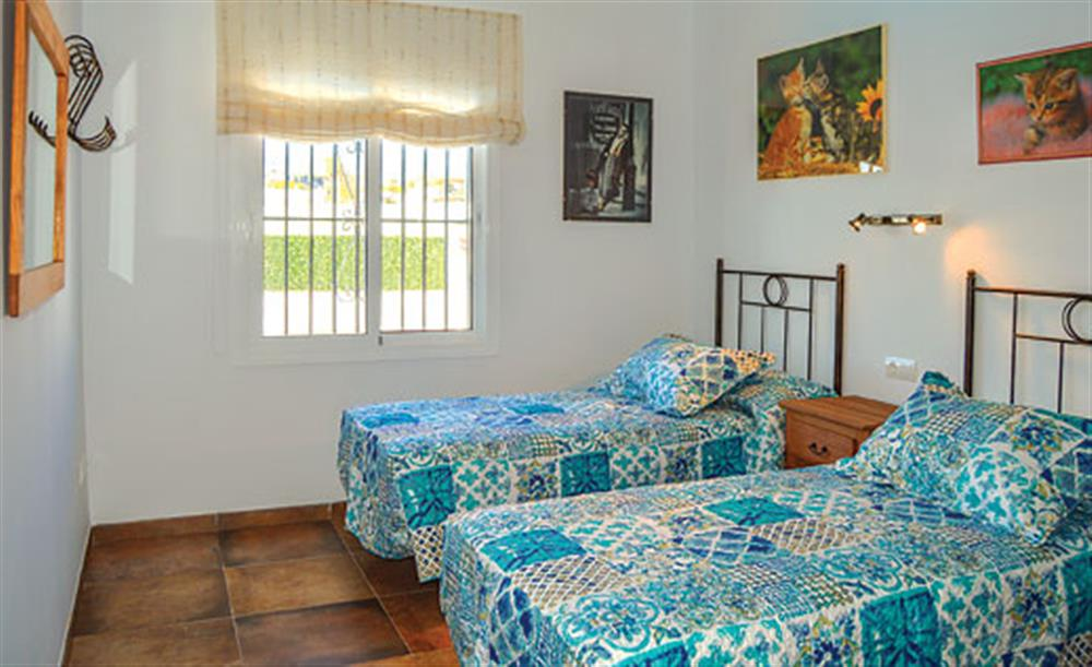 Twin bedroom at Villa Cortijo el Olivar, Torrox, Andalucia
