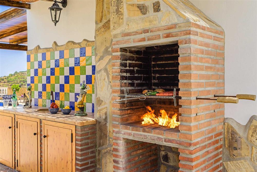 Barbecue at Villa Cortijo Herrero, Frigiliana, Andalucia