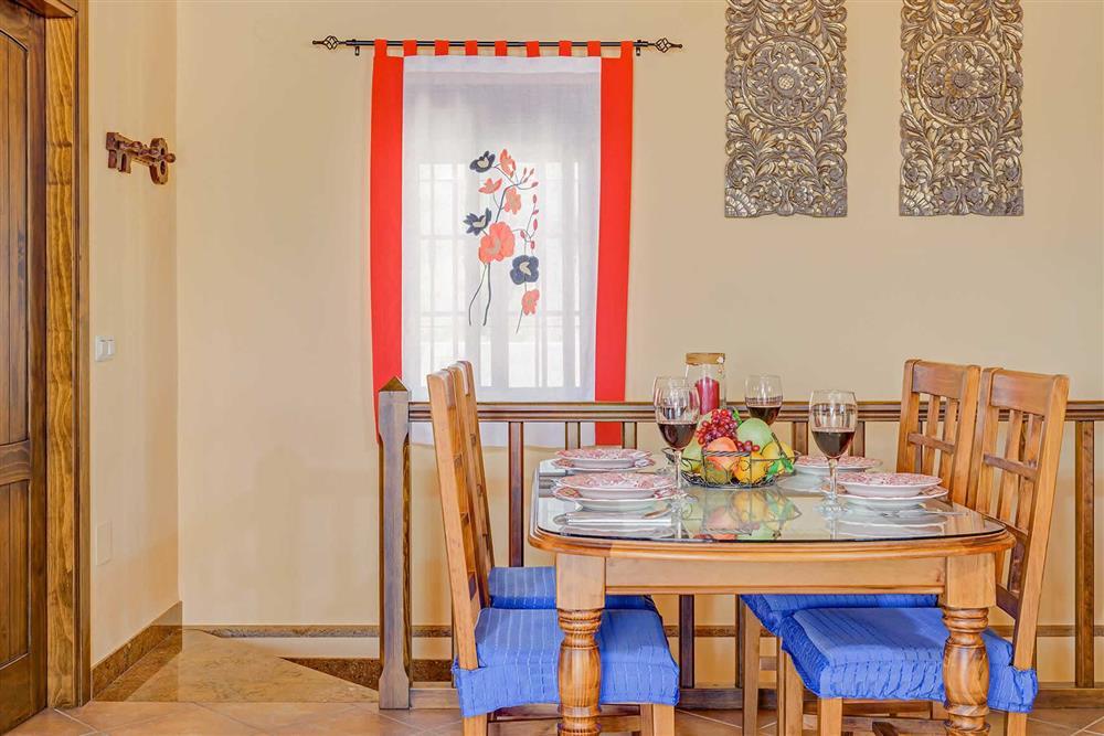 Dining room at Villa Cortijo Herrero, Frigiliana, Andalucia