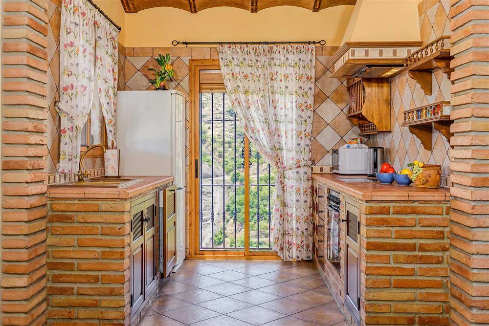 Kitchen at Villa Cortijo Herrero, Frigiliana, Andalucia