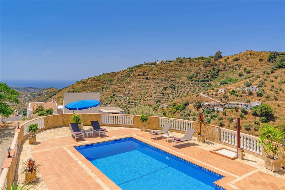 Pool at Villa Cortijo Herrero, Frigiliana, Andalucia