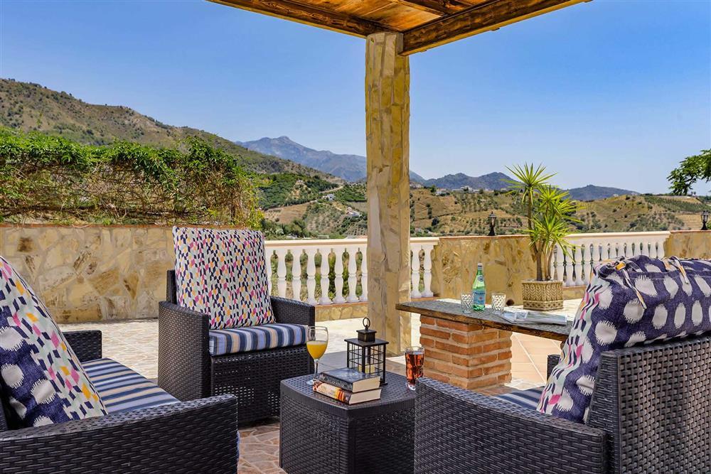 Seating area at Villa Cortijo Herrero, Frigiliana, Andalucia