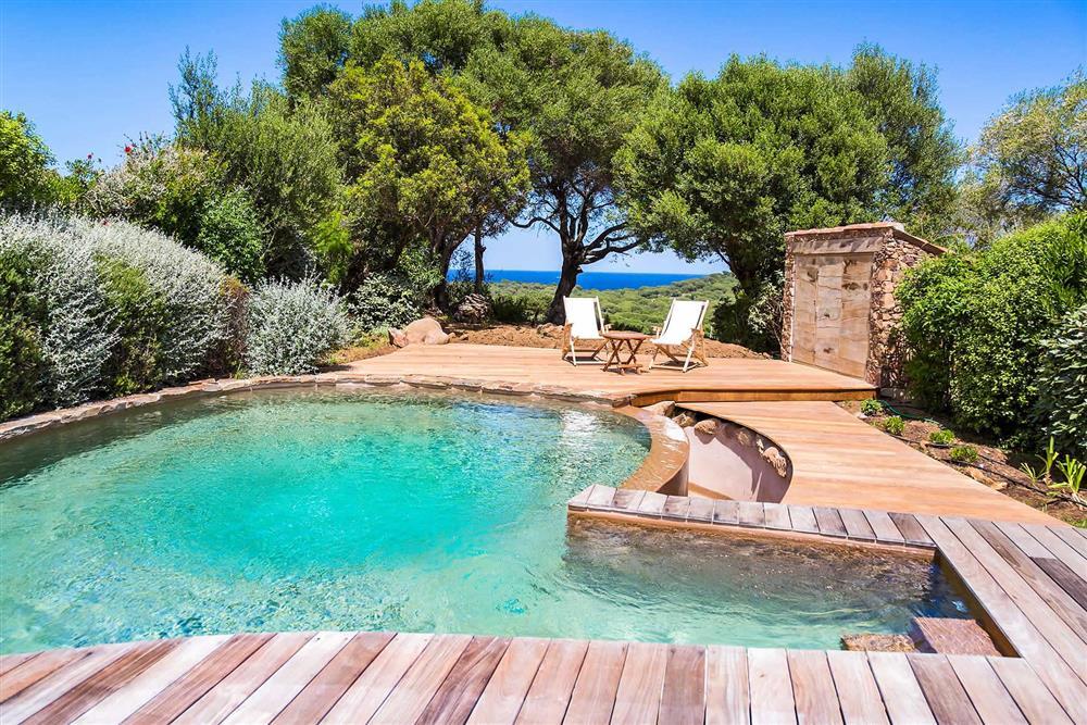 Pool, sea view