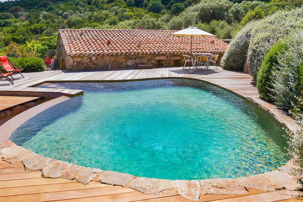 Pool, villa with pool, view