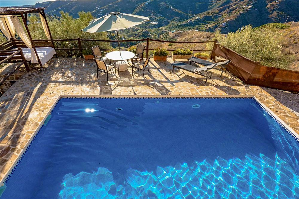 Pool, sunloungers, seating area (photo 2) at Villa El Amigo, Torrox, Andalucia