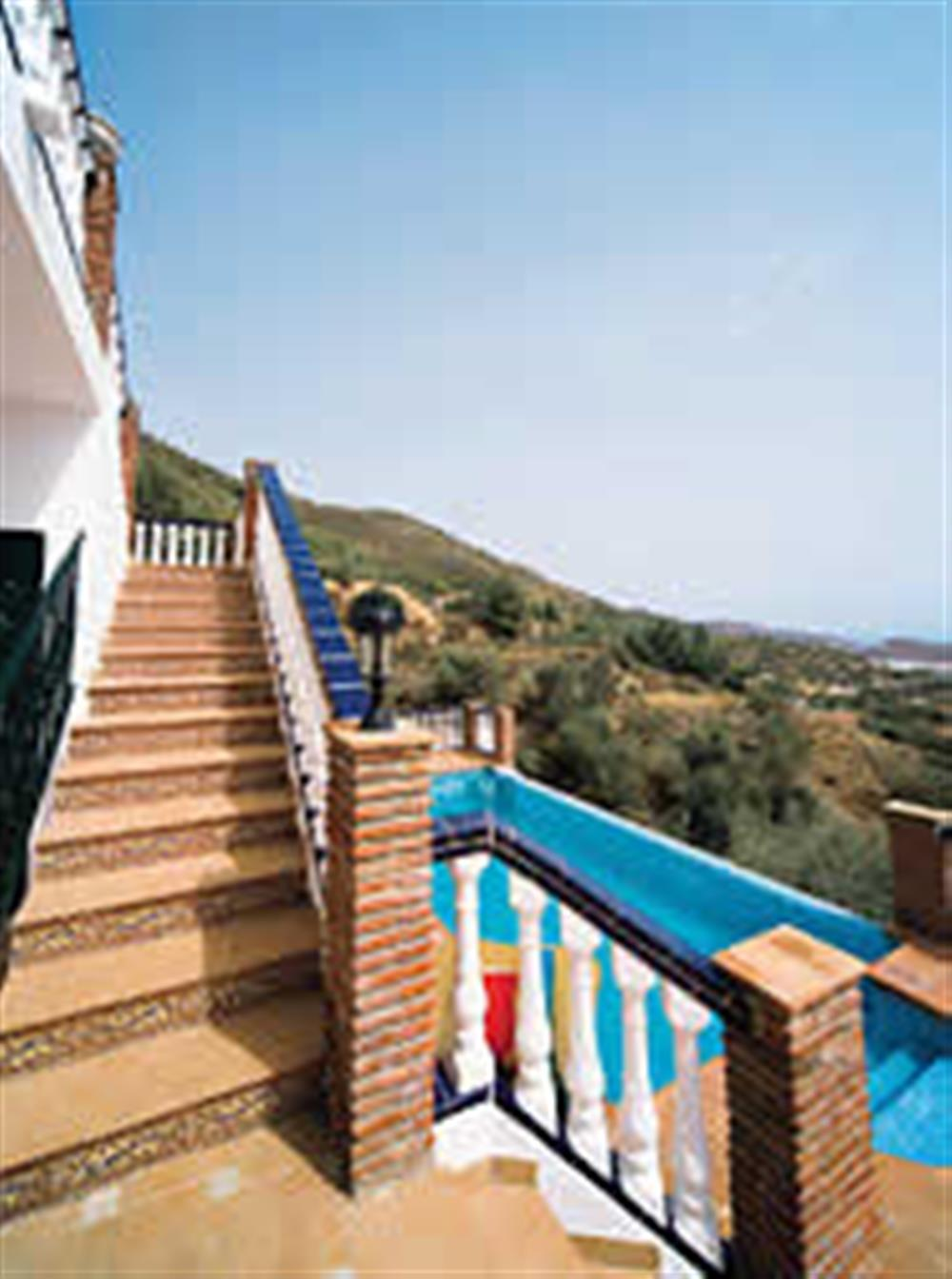 Staircase, pool at Villa El Pedregal, Mainland Spain, Spain