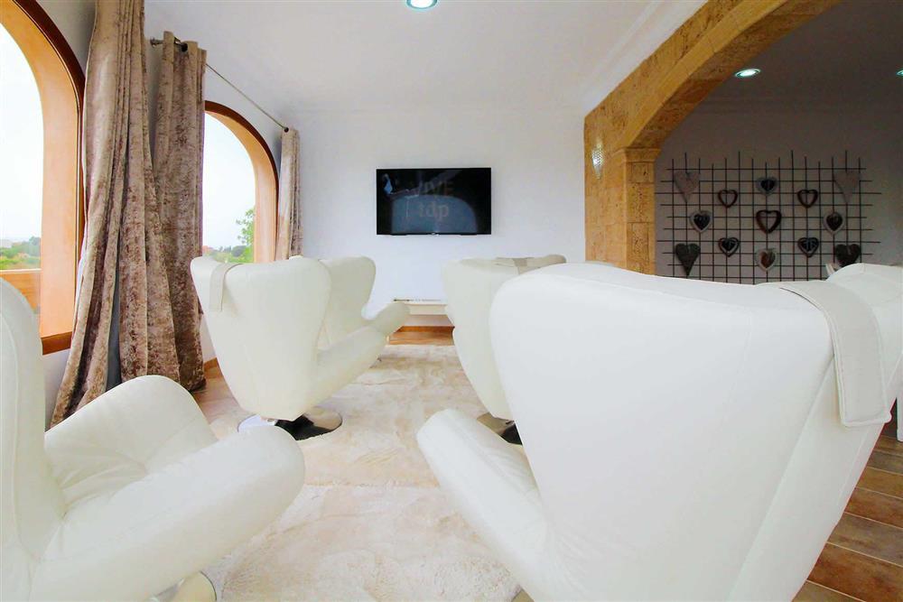 Seating area at Villa Es Bosqueres, Santa Margalida, Mallorca