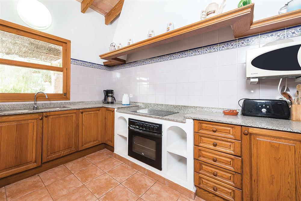 The kitchen at Villa Es Moli den Fanals, Alcudia, Mallorca