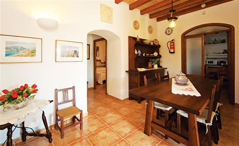 Dining room at Villa Isabel, Pollensa Mallorca, Spain