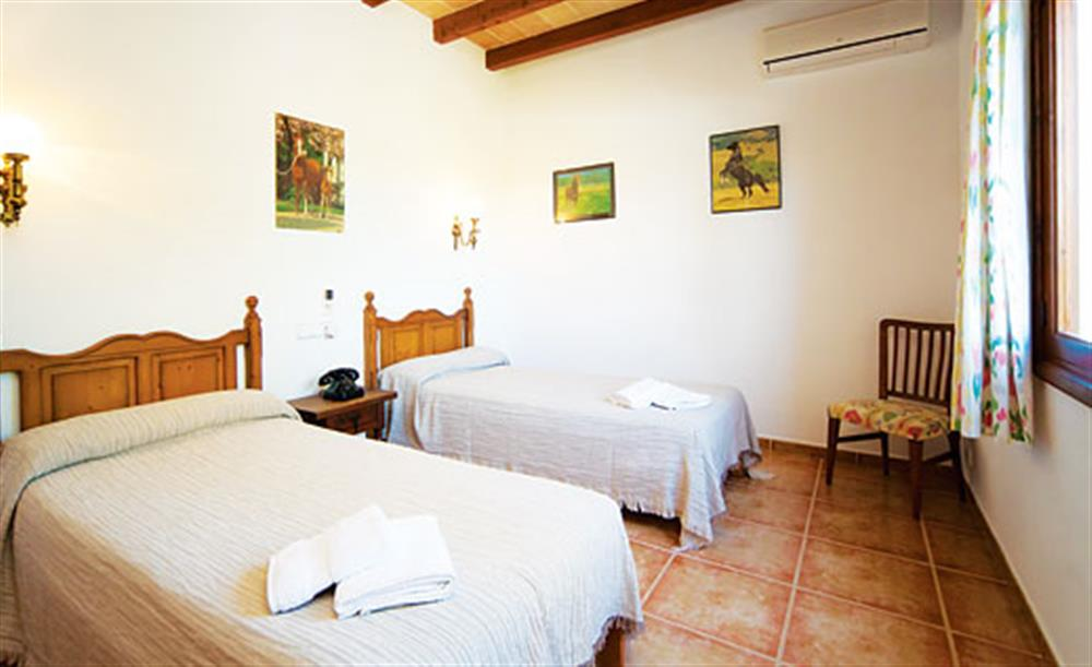 Twin bedroom at Villa Isabel, Pollensa Mallorca, Spain