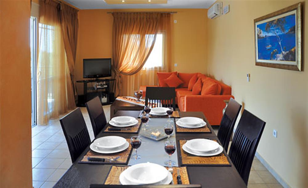 Dining room at Villa Karetta, Lake Korrison Corfu, Greece