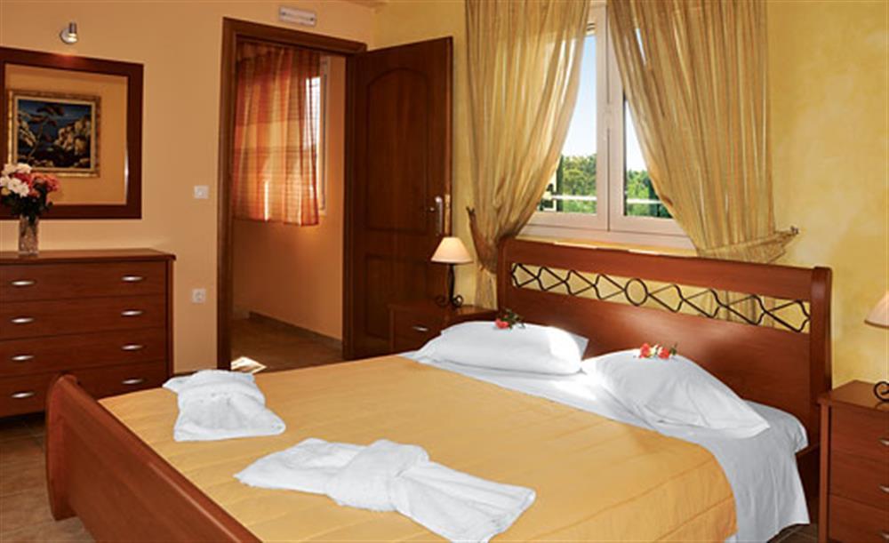 Double bedroom at Villa Karetta, Lake Korrison Corfu, Greece