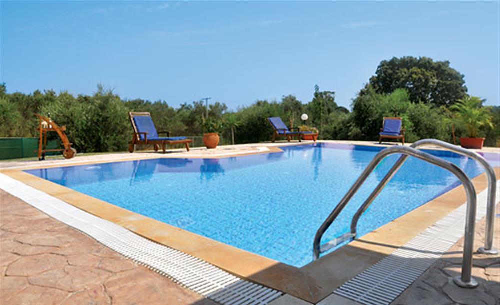Swimming pool at Villa Karetta, Lake Korrison Corfu, Greece