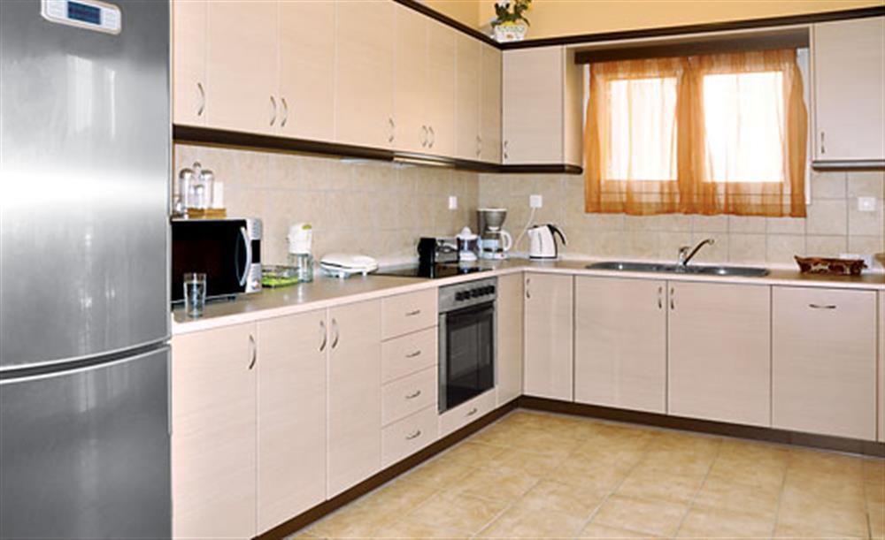 The kitchen at Villa Karetta, Lake Korrison Corfu, Greece
