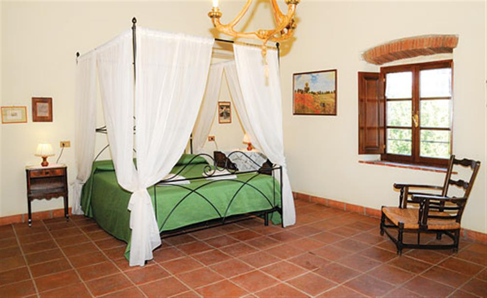 Double bedroom at Villa La Lespa, Santa Luce Tuscany, Italy