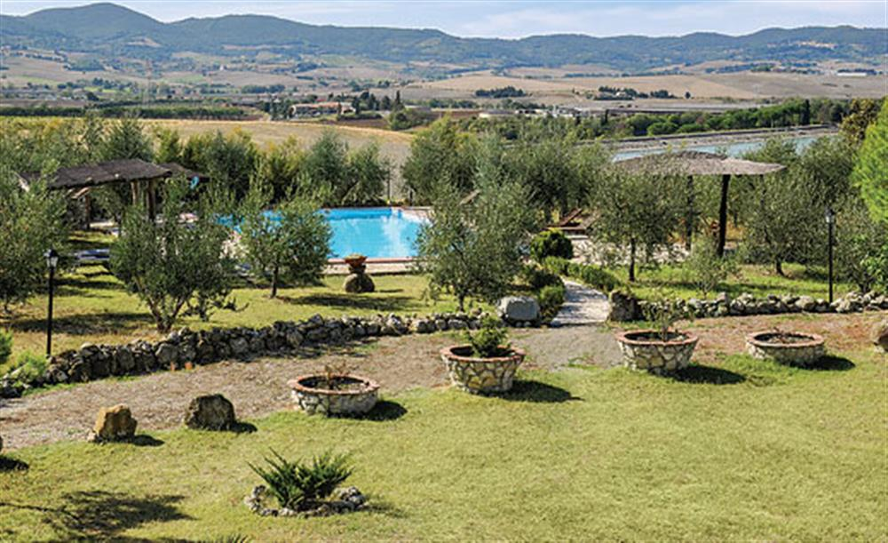 Garden and pool at Villa La Lespa, Santa Luce Tuscany, Italy
