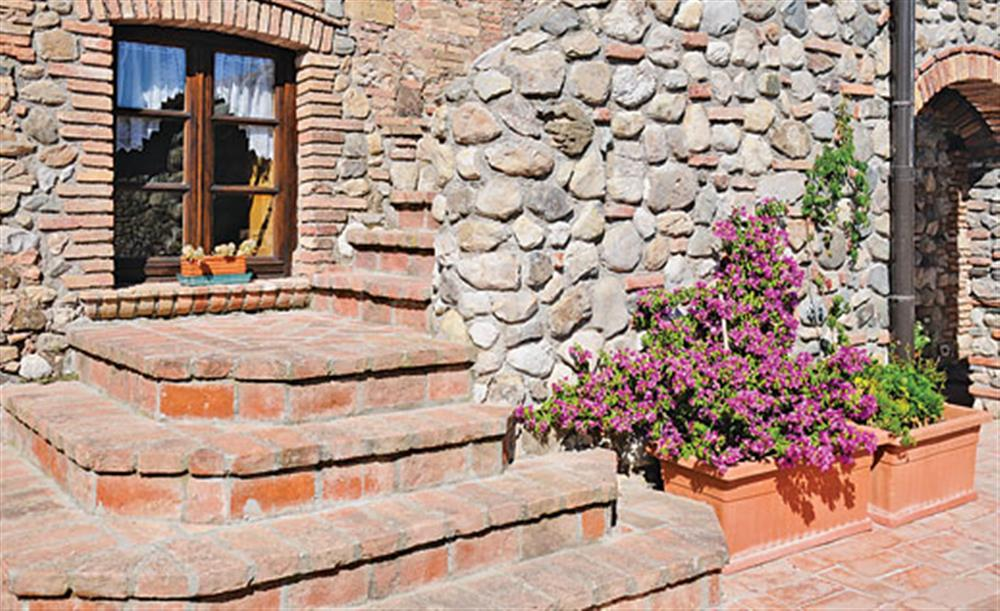 Steps outside the villa at Villa La Lespa, Santa Luce Tuscany, Italy