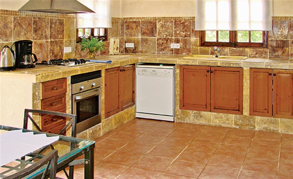 The kitchen at Villa La Nova, Pollensa, Mallorca