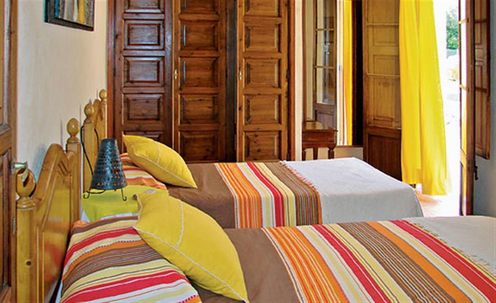 Twin bedroom at Villa La Nova, Pollensa, Mallorca