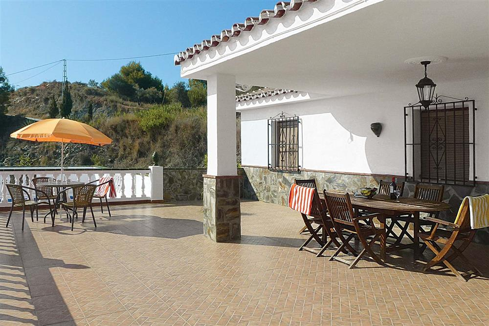 Dining on the terrace at Villa Las Minas, Mainland Spain, Spain