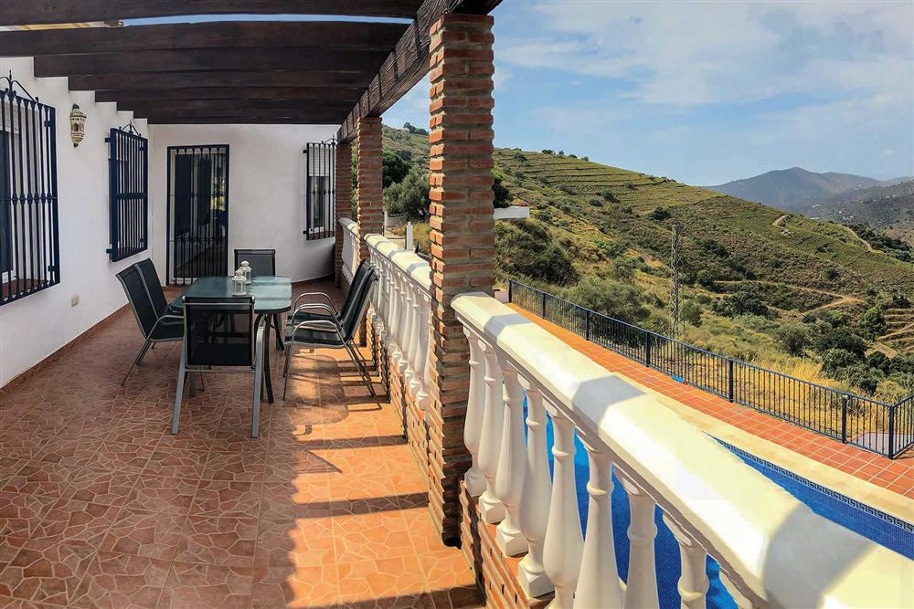 Balcony at Villa Las Rosinas, Competa, Andalucia
