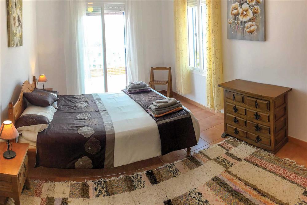 Double bedroom at Villa Las Rosinas, Competa, Andalucia