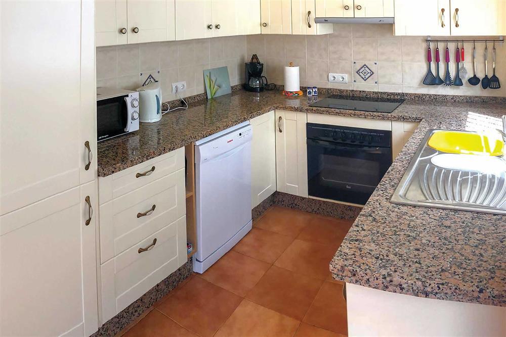 Kitchen at Villa Las Rosinas, Competa, Andalucia
