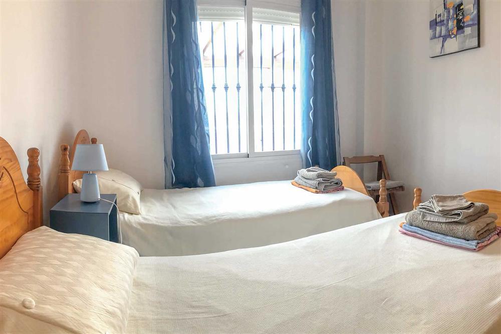 Twin bedroom at Villa Las Rosinas, Competa, Andalucia