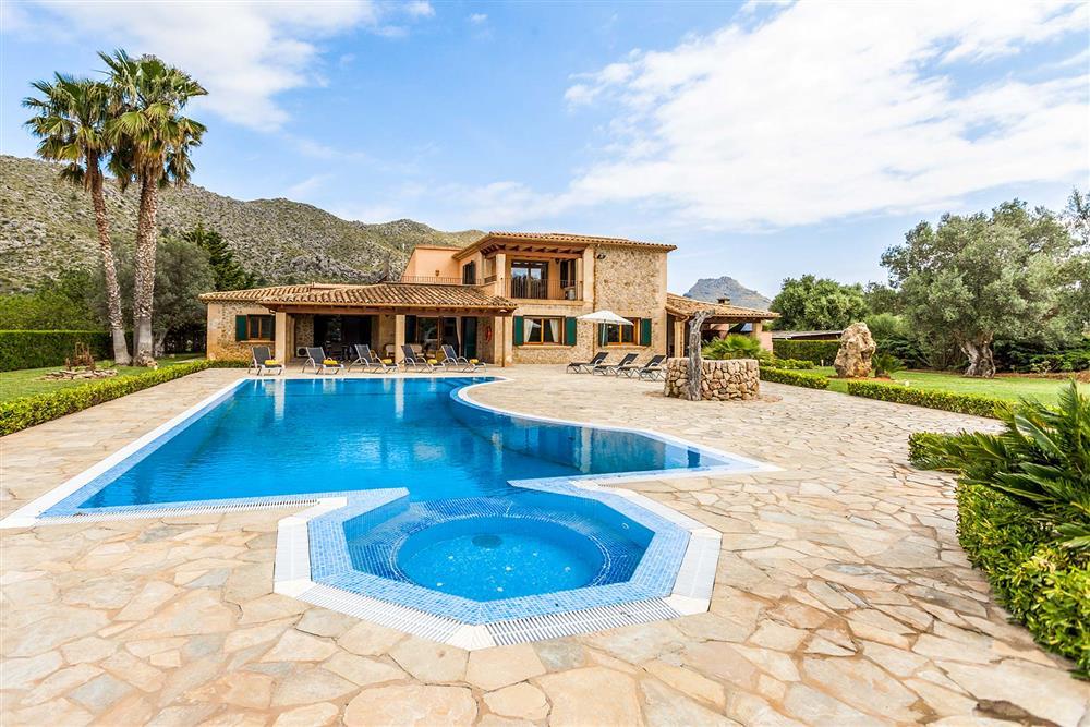 Villa exterior, pool (photo 2) at Villa Les Oliveres, Puerto Pollensa, Mallorca