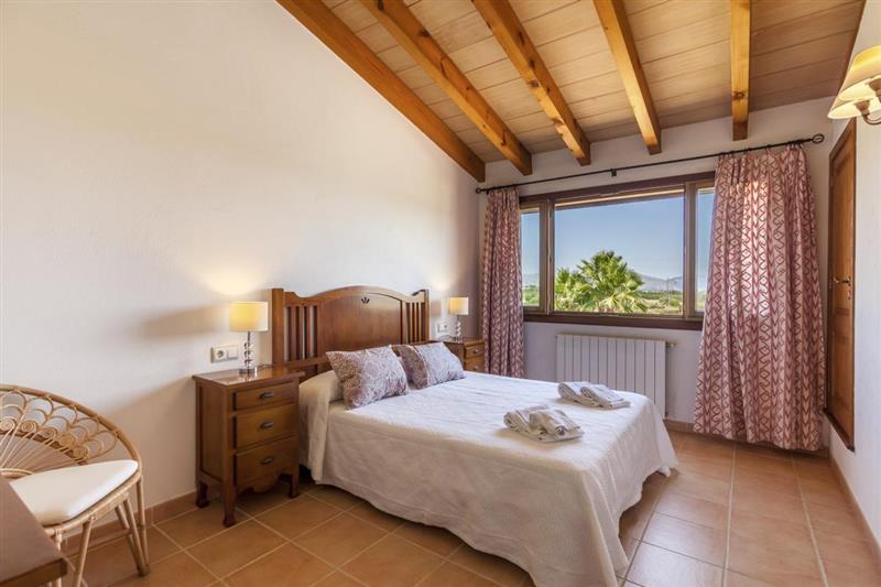 Double bedroom at Villa Lirio, Alcudia, Spain