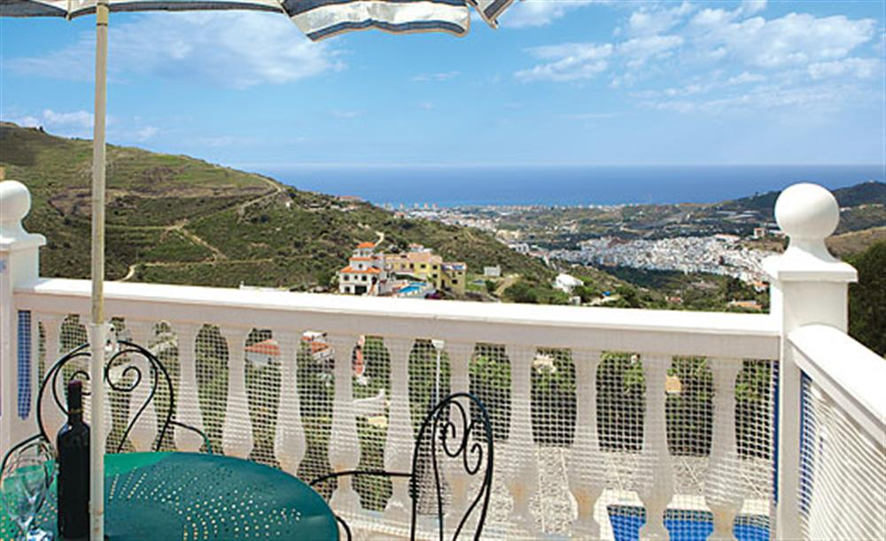 Elevated position of the villa at Villa Los Peques, Torrox Andalucia, Spain