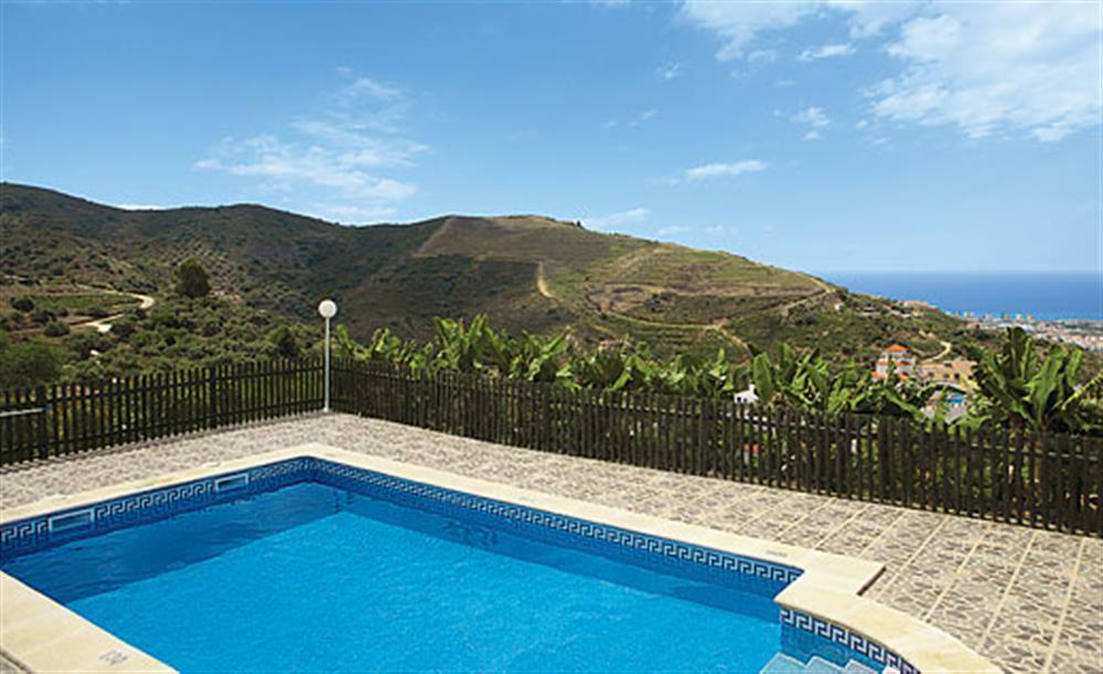 Swimming pool and views at Villa Los Peques, Torrox Andalucia, Spain