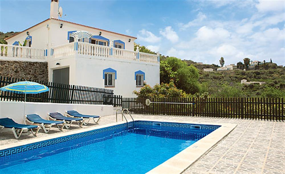 Swimming pool at Villa Los Peques, Torrox Andalucia, Spain