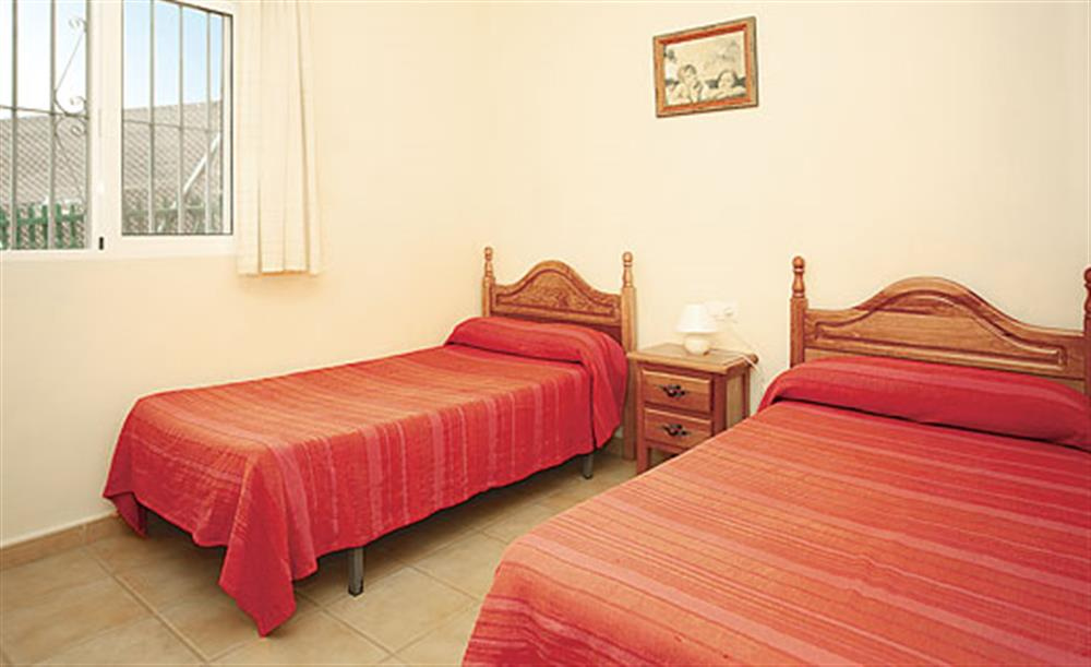 Twin bedroom at Villa Los Peques, Torrox Andalucia, Spain