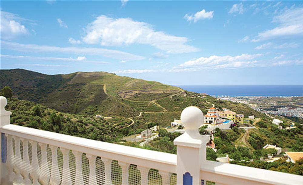 Views to the sea at Villa Los Peques, Torrox Andalucia, Spain