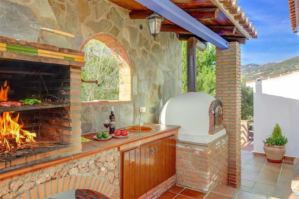 Barbecue at Villa Los Tres Soles, Frigiliana, Andalucia