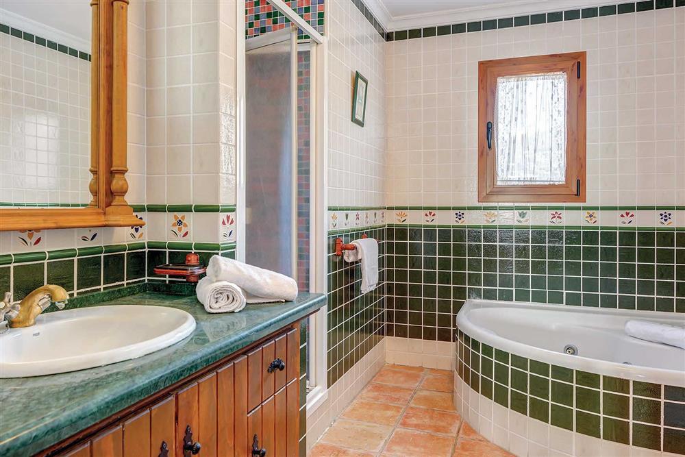 Bathroom at Villa Los Tres Soles, Frigiliana, Andalucia