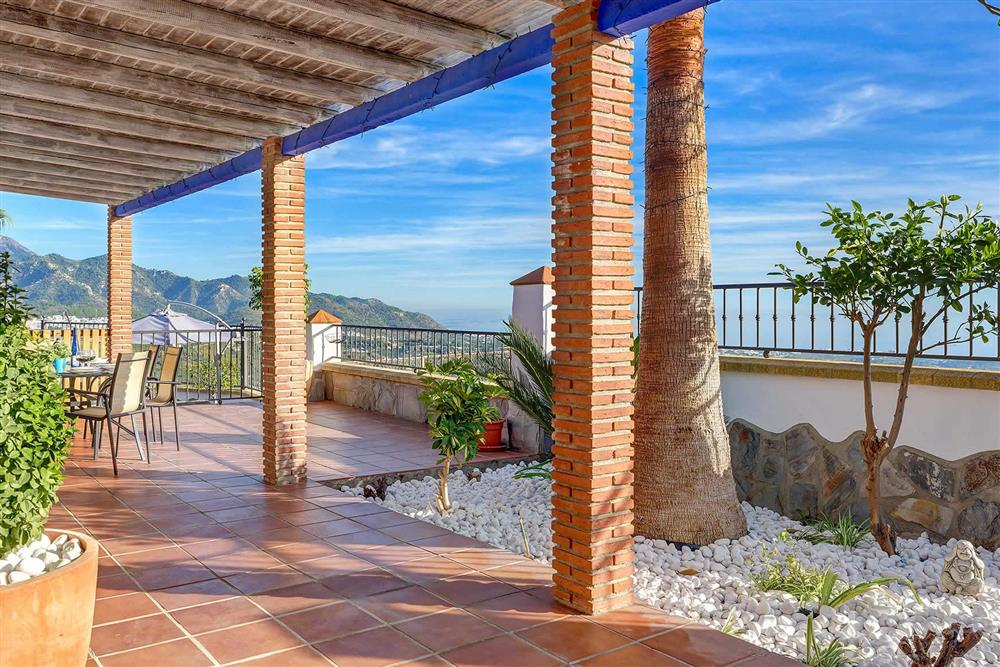 Covered terrace at Villa Los Tres Soles, Frigiliana, Andalucia