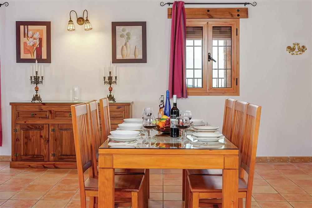 Dining room at Villa Los Tres Soles, Frigiliana, Andalucia