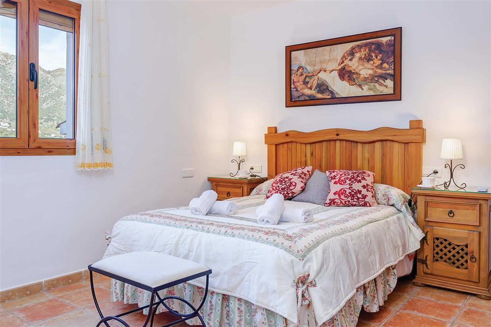 Double bedroom at Villa Los Tres Soles, Frigiliana, Andalucia