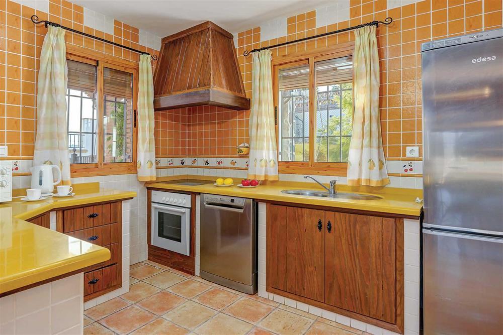 Kitchen at Villa Los Tres Soles, Frigiliana, Andalucia