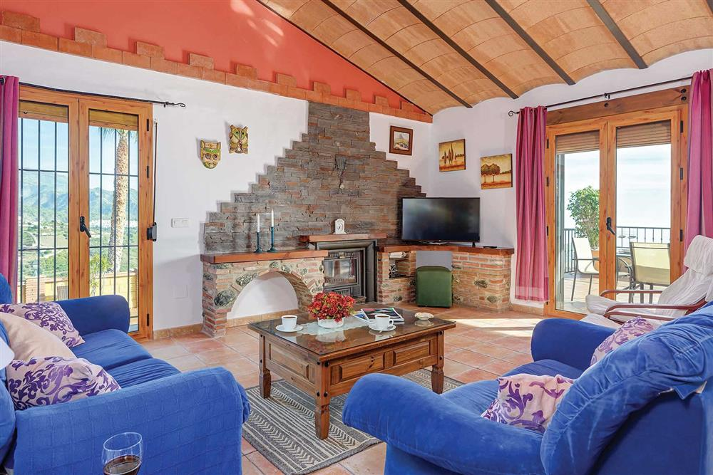 Lounge at Villa Los Tres Soles, Frigiliana, Andalucia