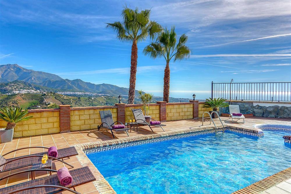 Pool at Villa Los Tres Soles, Frigiliana, Andalucia