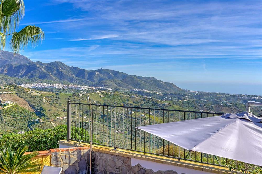 View at Villa Los Tres Soles, Frigiliana, Andalucia