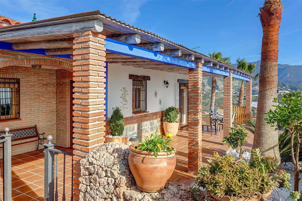 Villa exterior at Villa Los Tres Soles, Frigiliana, Andalucia