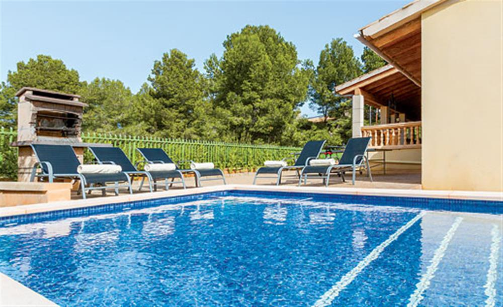 Swimming pool at Villa Manresa, Alcudia, Mallorca