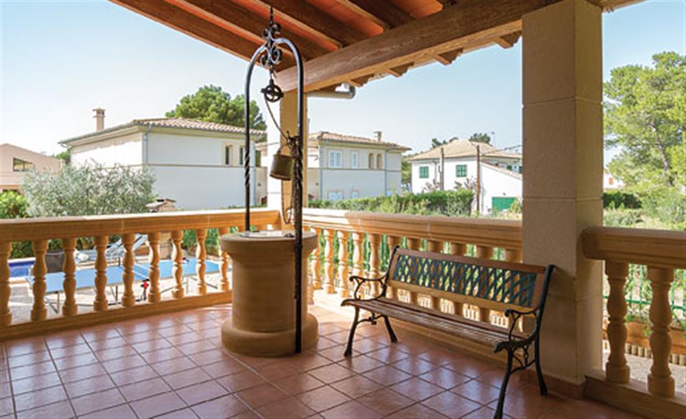 Terrace at Villa Manresa, Alcudia, Mallorca