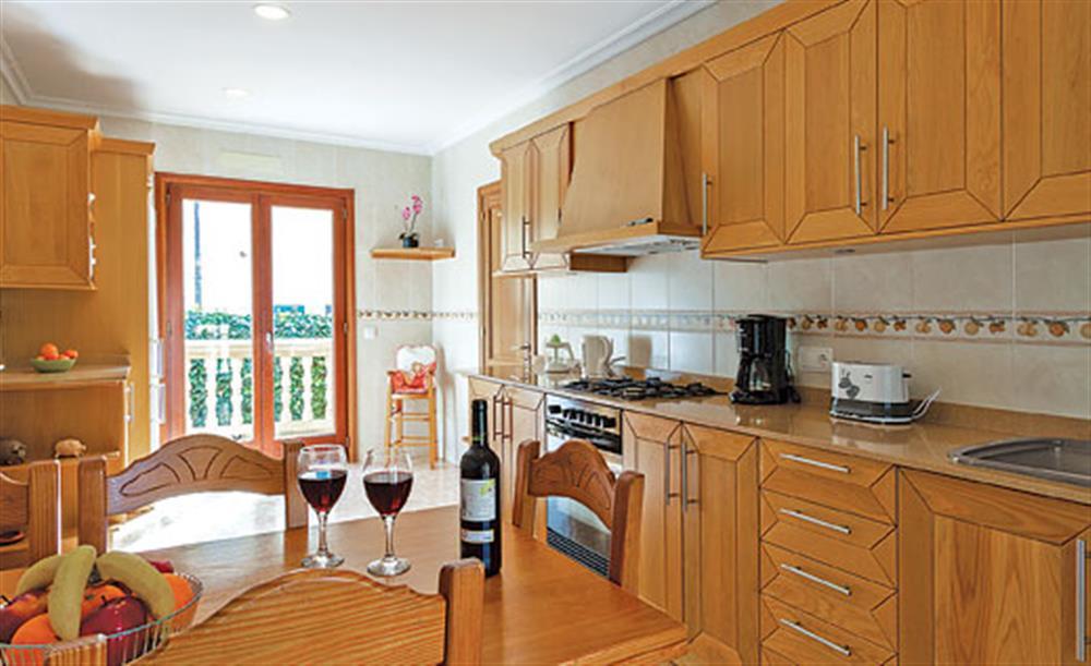 The kitchen at Villa Manresa, Alcudia, Mallorca